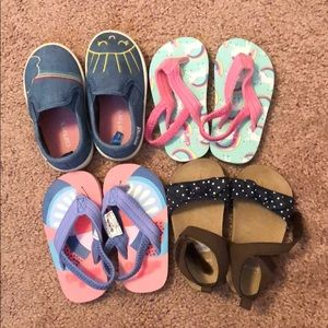 Lot of 4 - Size 4 toddler girl shoes